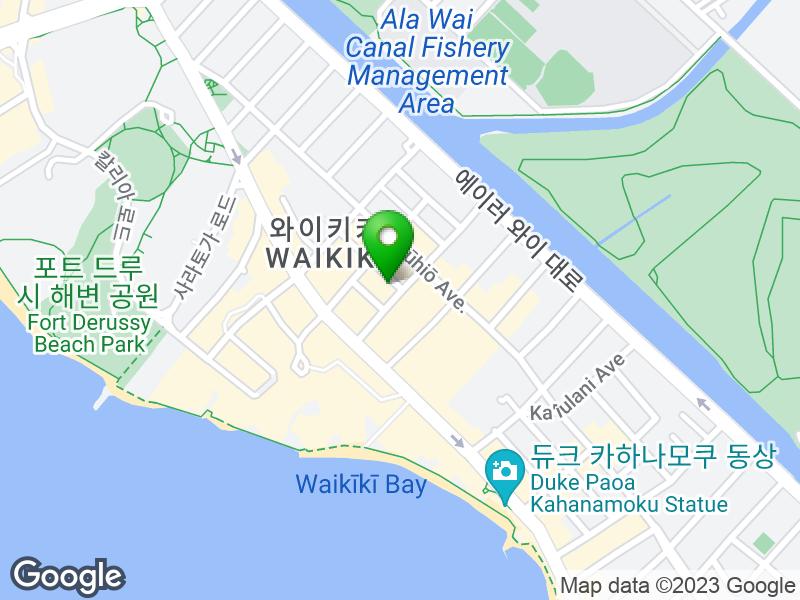 쇼어라인 호텔 와이키키 지도