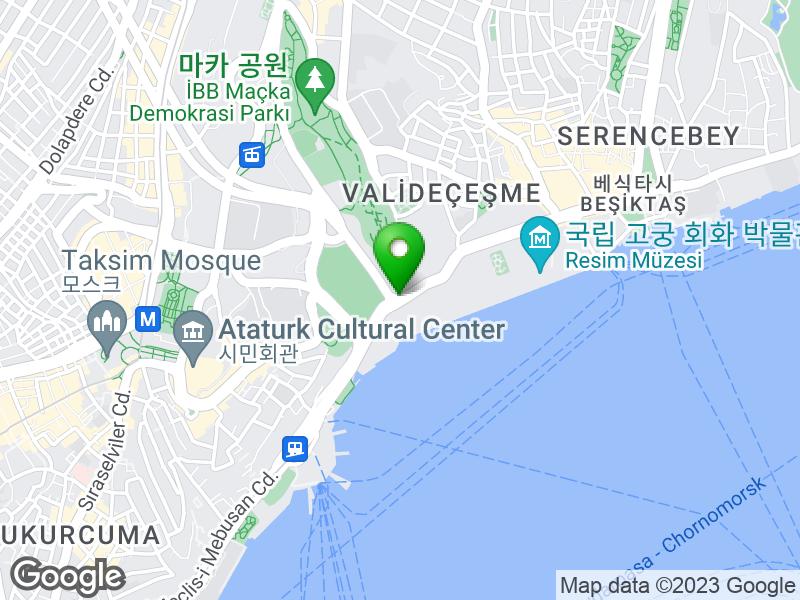 돌마바흐체 궁전 지도